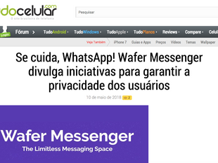 "Wafer featured on ""Tudo Celular"""