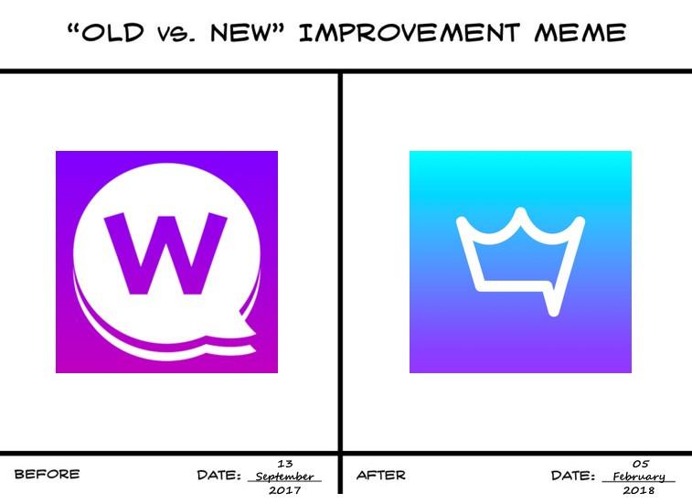 Wafer Messenger Before/After Logo
