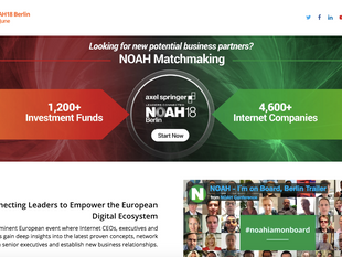 Wafer to pitch at NOAH Conference 2018 in Berlin