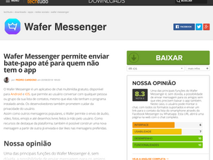 Wafer Messenger featured on TechTudo