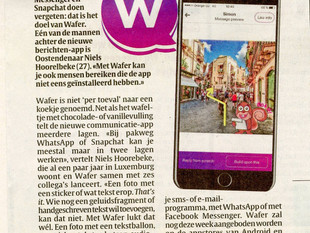 Wafer hits Belgian market with coverage in leading press outlets