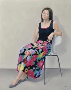 F100 花模様のスカート