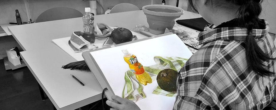 水彩画クラス