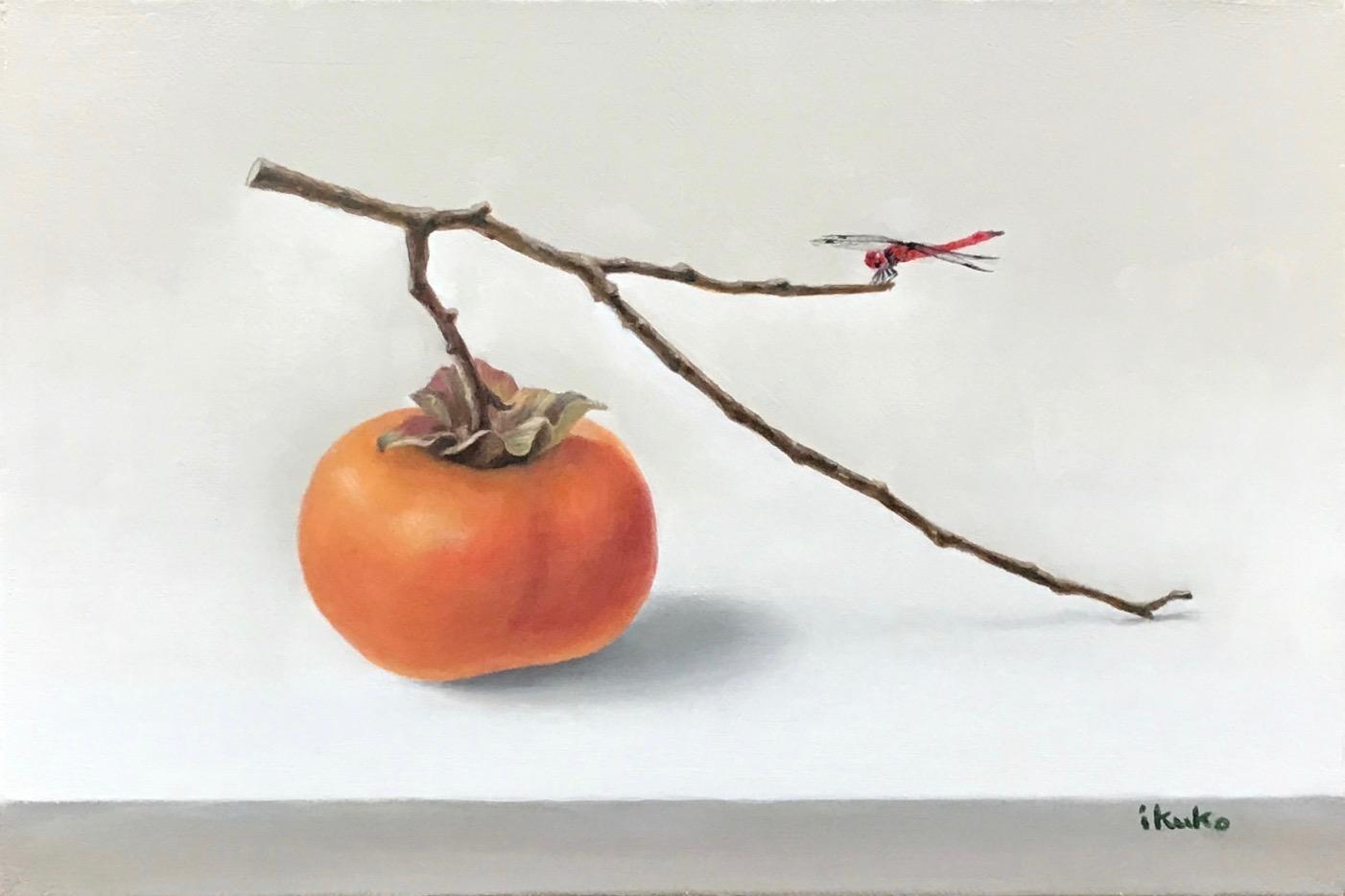 F6 柿と赤とんぼ