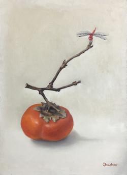 F4 柿と赤とんぼ