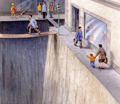 What if roads were giant holes in the ground? (#TwentyIsPlenty)