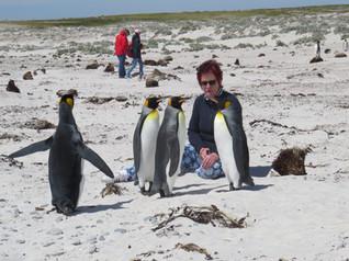 Manuela and her Penguins-Antarctica 2015