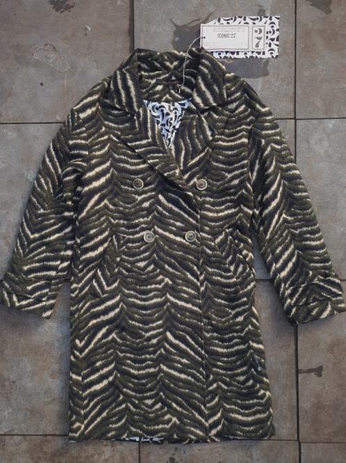 "ICONIC27 Long Coat ""Zebra"""