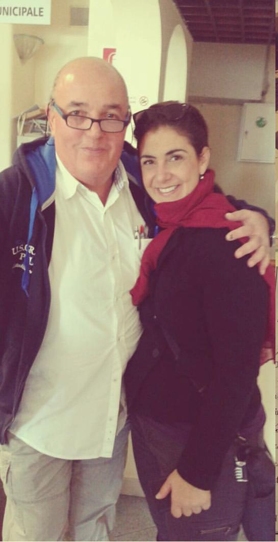 With Leonardo Guarracino at Comune in Forio, 2015