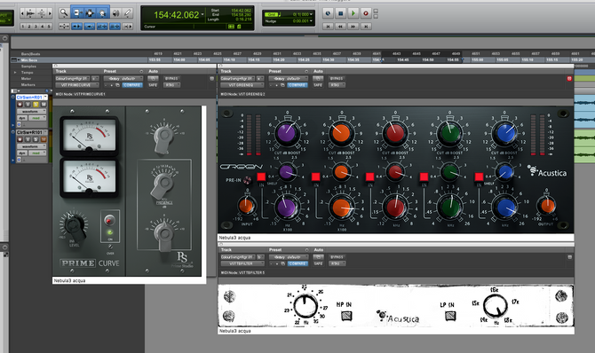 Acustica Audio ACQUA Plugins mastering test / EQ's
