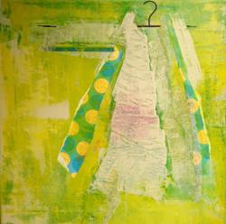 trine pettigrew mixed media art green