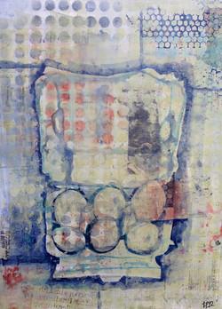 trine pettigrew mixed media eggs