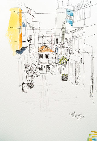 urban sketching drawing by Annie Audley