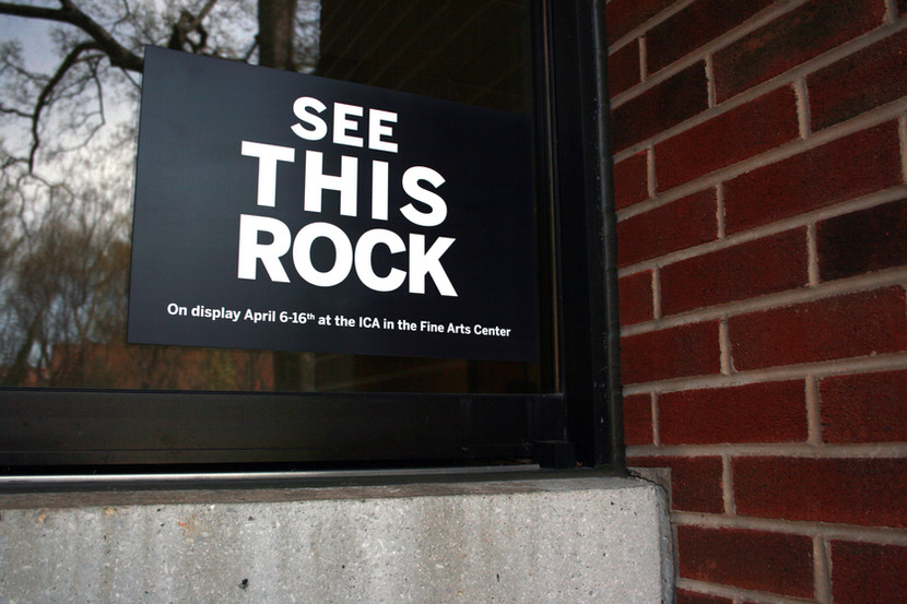 See This Rock Promotional Signage