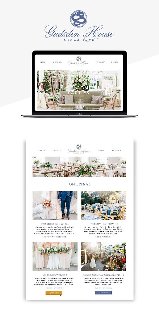 Web design in Charleston SC for Gadsden House