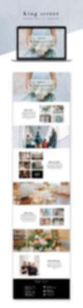Web design project King Street Hospitality