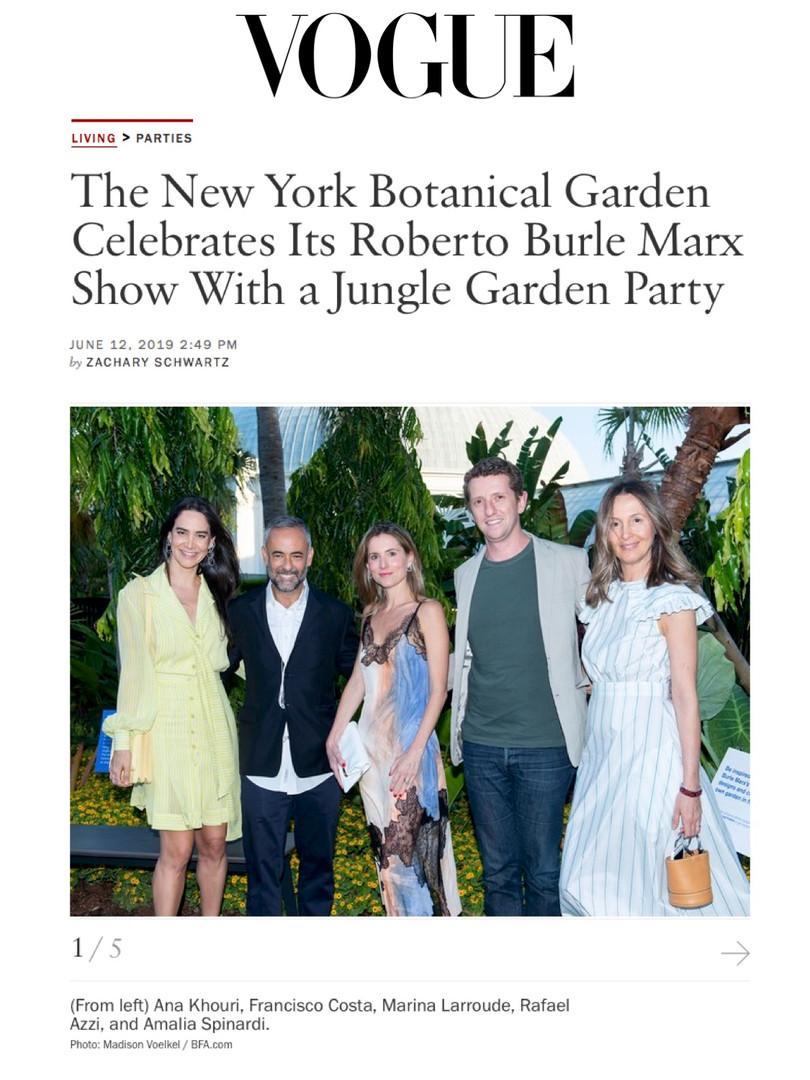 New York Botanical Garden event on Vogue.com