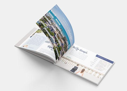 Interior of brochur designed by Whitefox Design Studio