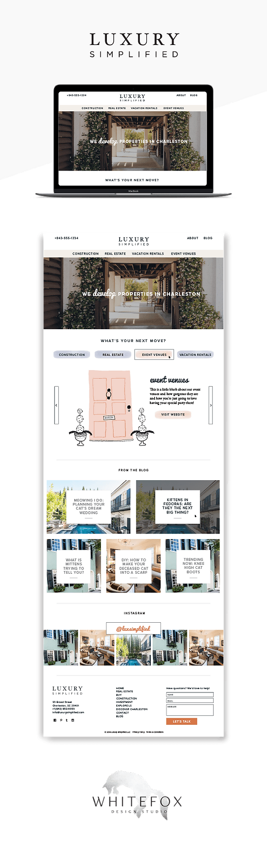 Website design for real estate company in Charleston SC