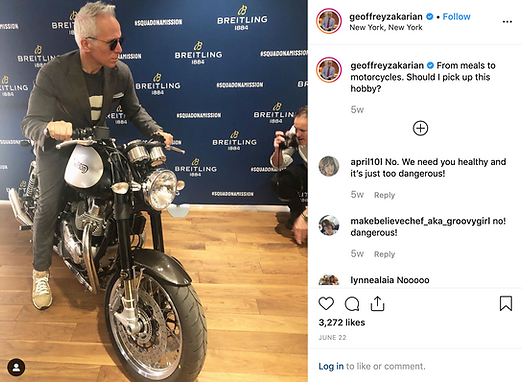 Influencer Geoffrey Zakarian at Breitling Event