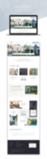 Retreats Website design homepage