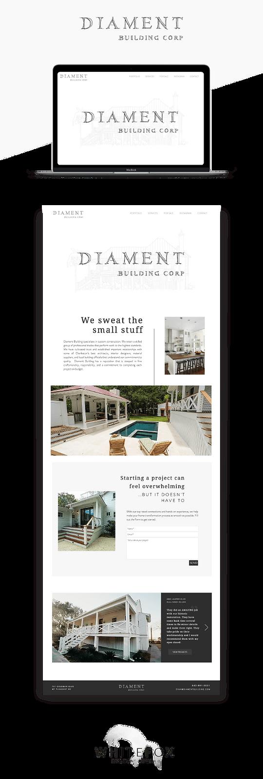 Website design for builder