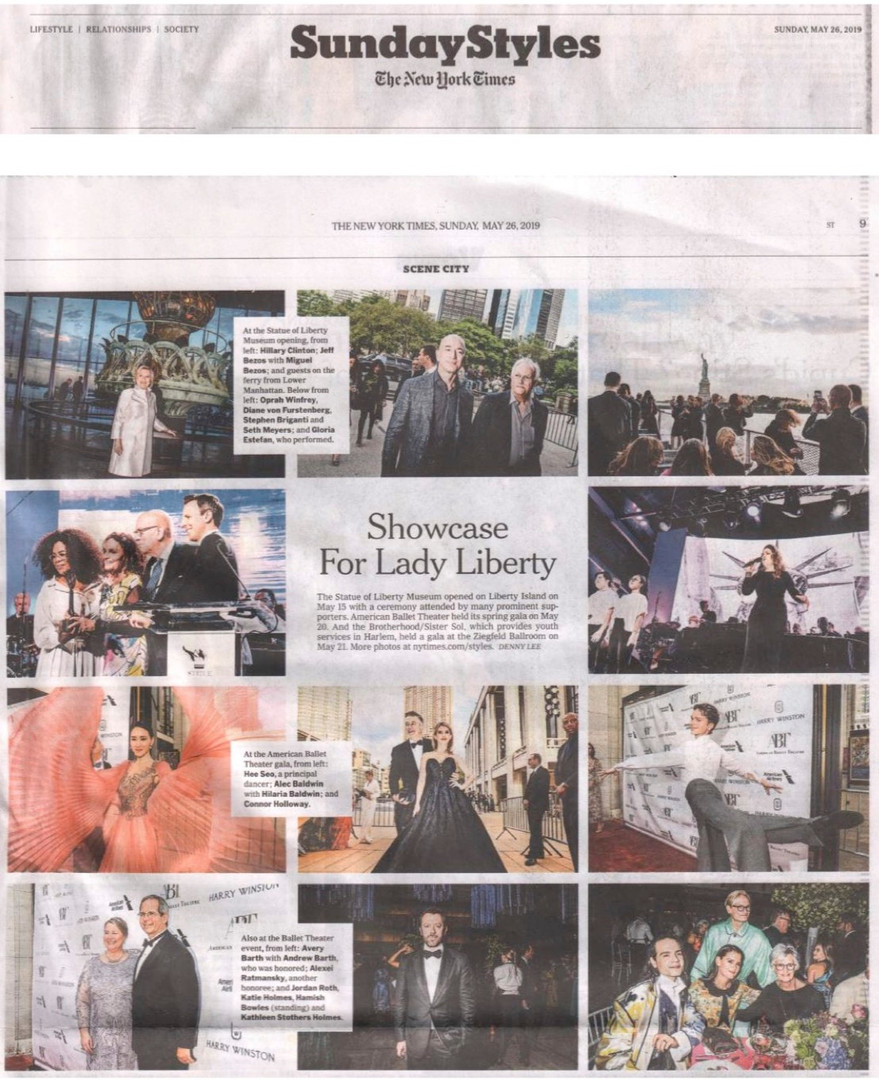 American Ballet Theatre's Spring Gala in The New York Times, Sunday Styles