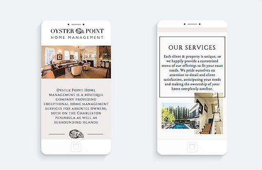 Mobile version of website for Charleston client