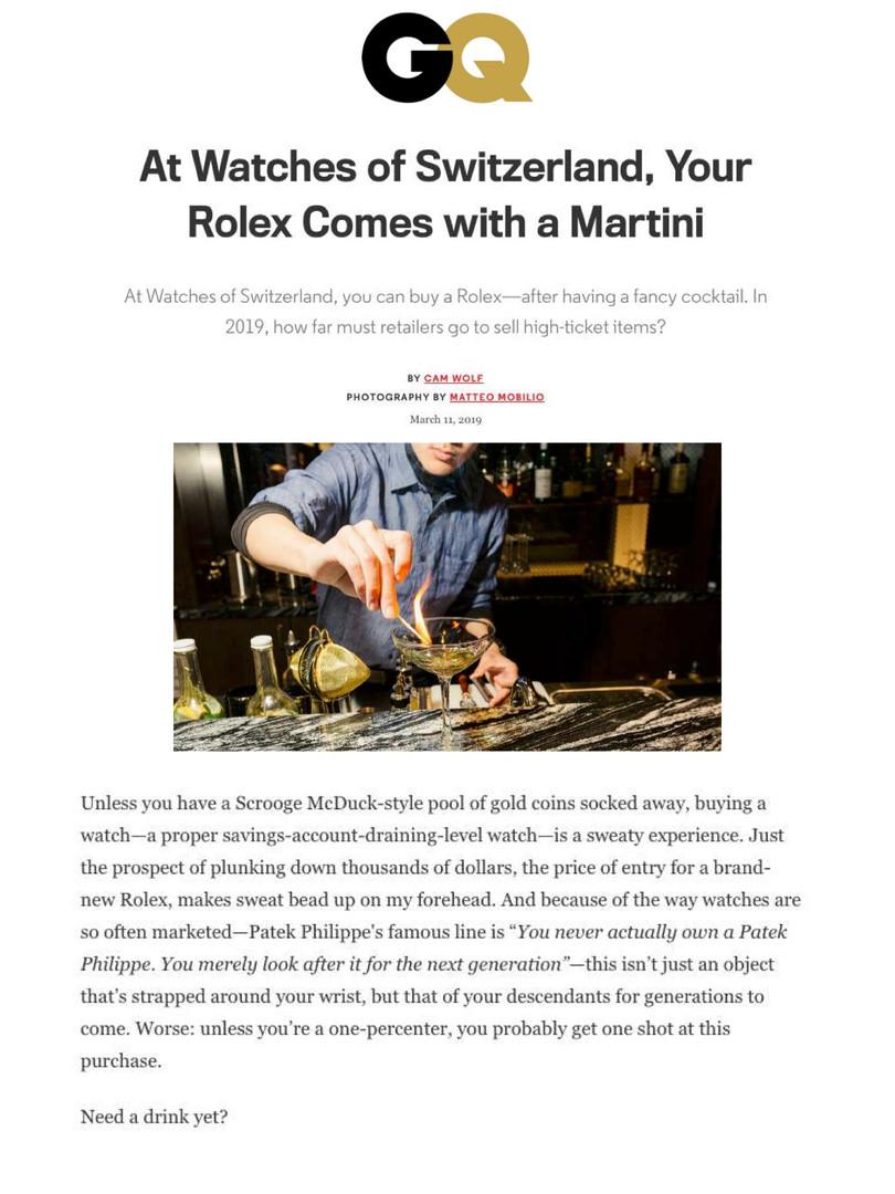 Watches of Switzerland on GQ.com