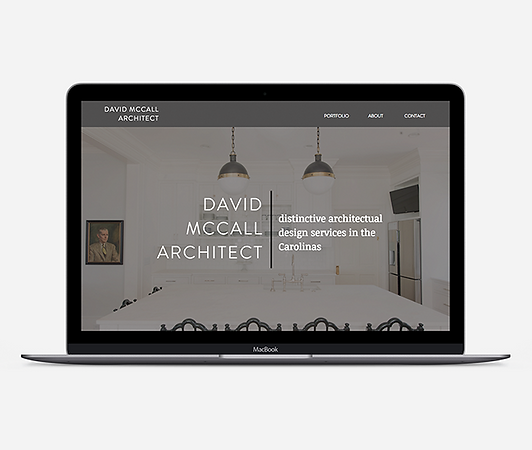 Architect's website homepage