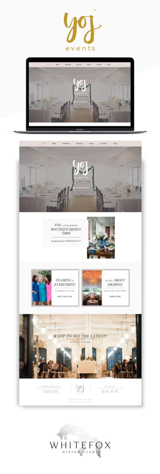 Website design Yoj Event Planning in Charleston