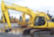 180-degree excavator levelling ground