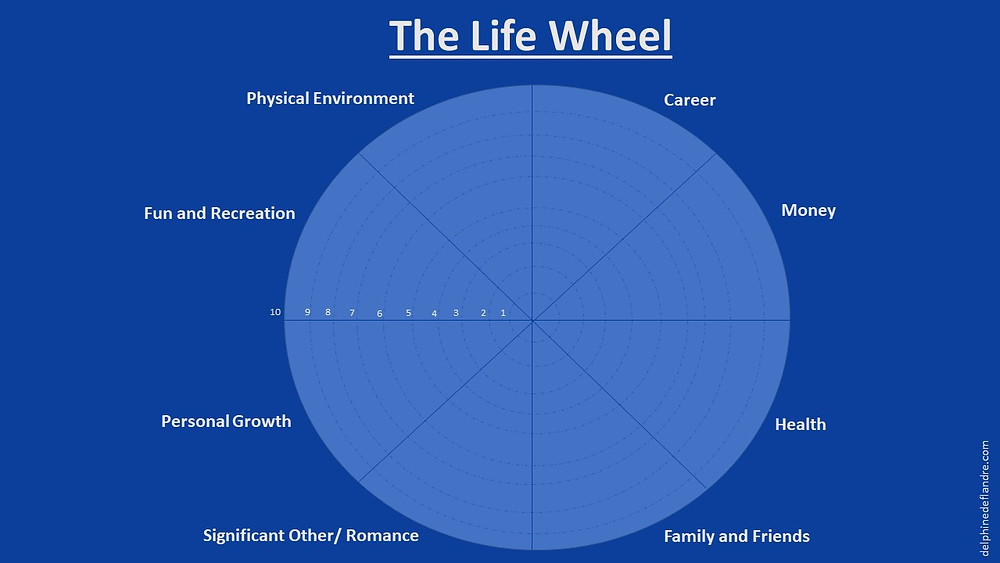 Evaluate your satisfaction level on your 8 domains of Life