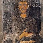 現存最古のフランチェスコ像(スビアーコの聖窟のインフェリオーレ教会蔵、1223年