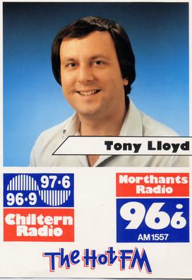 Chiltern Radio Card Tony Lloyd