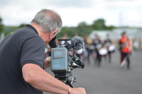 Tony Lloyd filming