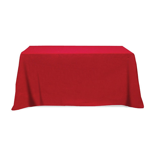 Flat 4-Sided Cotton/Polyester Tablecloth - 6 ft.