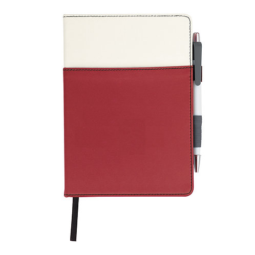 Colorblock Faux Leather Journal