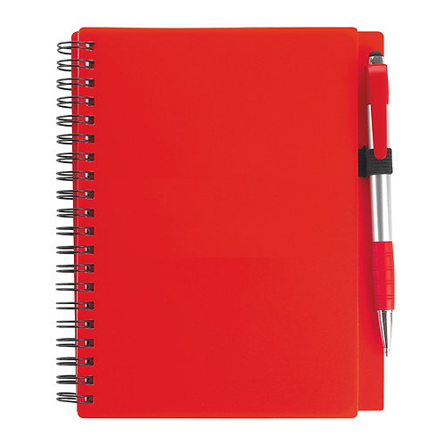 Spiral Notebook with Sphere Stylus Pen