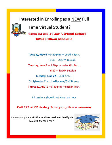SRO Informational Sessions Flyer for  20