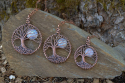 Copper and Moonstone in 3 sizes