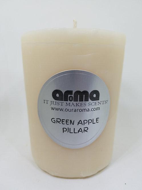 "Green Apple 2"" Pillar Candle"