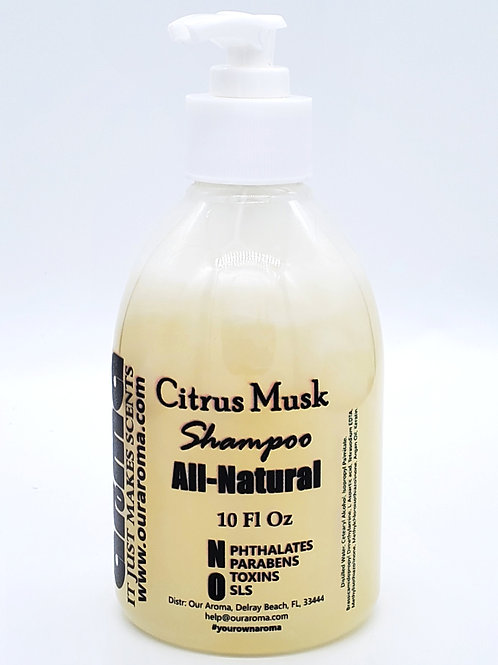 Our Aroma Citrus Musk Shampoo with Argan Oil 10Oz