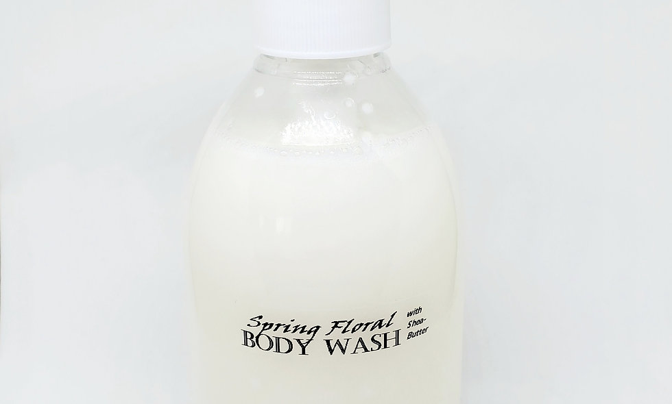Aroma Spring Floral 10Oz Body Wash with Shea-Butter