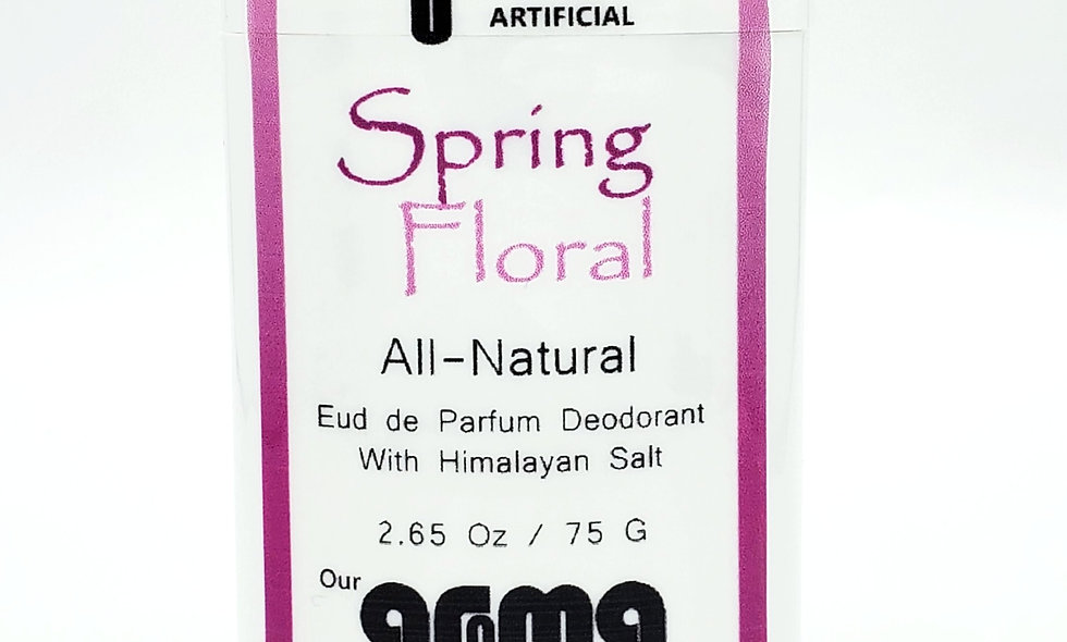 Aroma Spring Floral 2.5 Oz All-Natural Deodorant