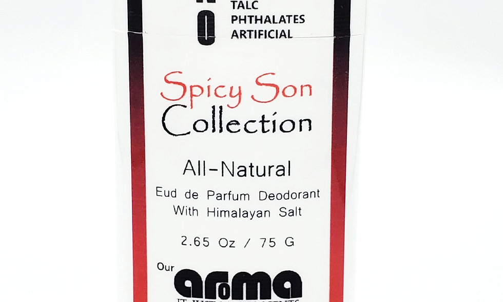 Aroma Spicy Son  2.65 Oz All-Natural Deodorant