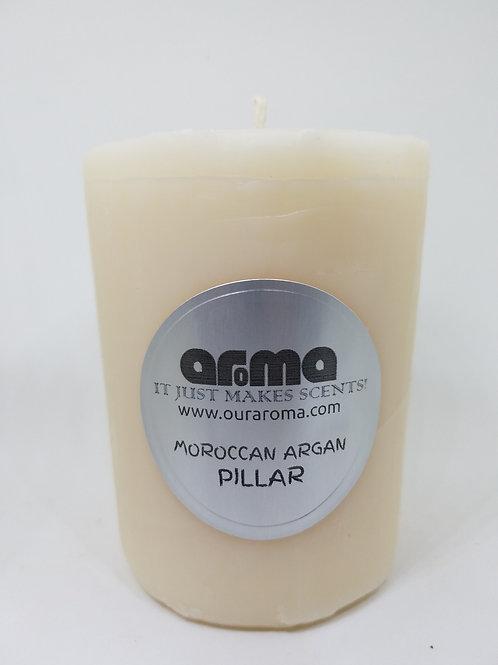 "Moroccan Oil 3"" Pillar Candle"