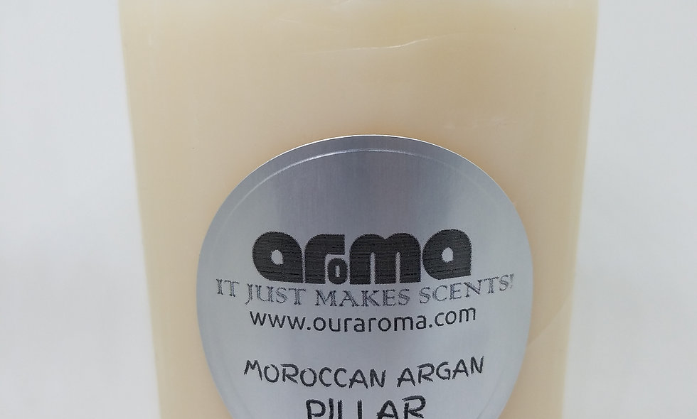 "Moroccan Oil 3"" Pillar Candle"
