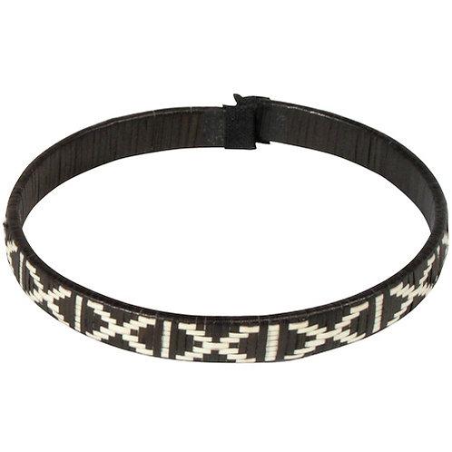 Narrow Cana Flecha Bracelet - Black & White