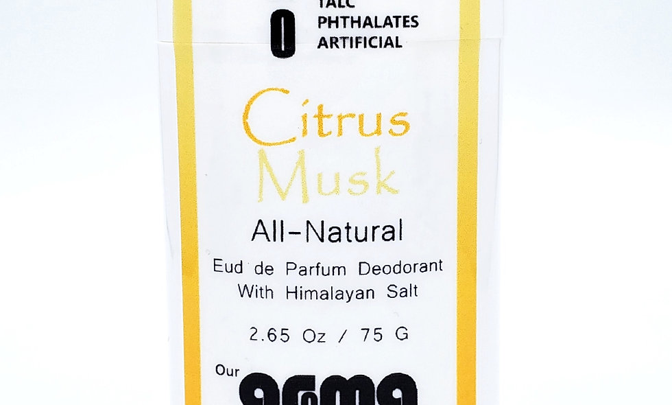 Aroma Citrus Musk 2.5 Oz All-Natural Deodorant